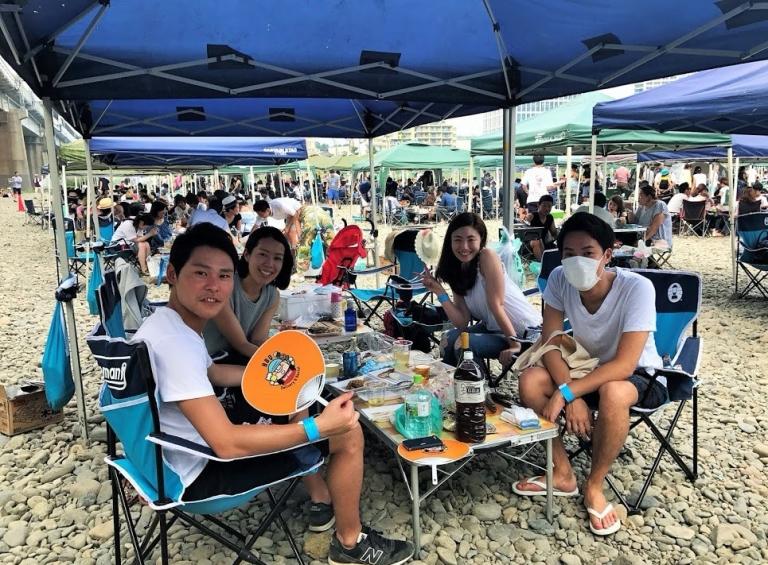 二子新地河川敷BBQ広場